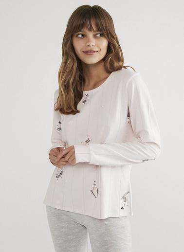 Penti Pembe Hot Tech Winter Joy Tişört Renkli